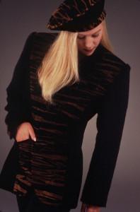 Shiboried Leather Blazer by Holly Merritt