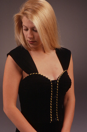 Leather Bustier by Holly Merritt